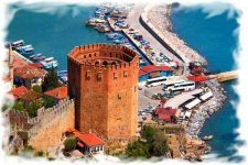 Alanya Webcam – Embankment and Red Tower