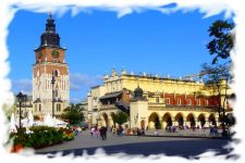 Panoramic webcam Krakow – Town Hall and Market Square